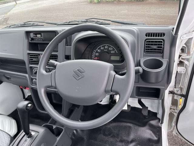 KCエアコン・パワステ 4WD オートマ 切替式4WD Wエアバッグ フロアマット バイザー ラジオ スペアタイヤ 三方開 鳥居アングル 届出済未使用車(33枚目)