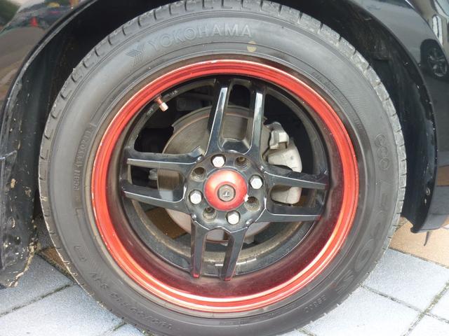 ホンダ フィット G 社外15インチアルミ 車高調 カーボンルーフスポイラー