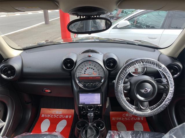 クーパーS クロスオーバー オール4 ターボ車 4WD カッロツェリアHDDナビ フルセグ Bluetooth ETC車載器 バックカメラ キセノンライト 17インチアルミ 5人乗り(13枚目)