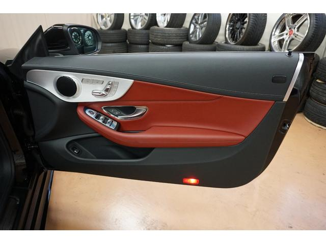 C180カブリオレスポーツ レザーエクスクルーシブPKG・エアバランスPKG・赤本革シート・新品H&Rダウンサス・純正19AWブロンズカスタムペイント・レッドソフトトップ・エアスカーフ・クルーズコントロール(16枚目)