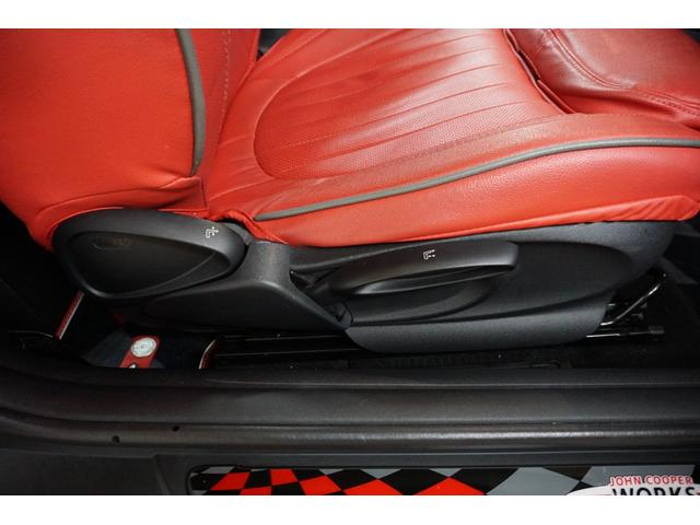 クーパーS クーパーS(4名) サンダーグレーメタリック 17AW 赤革シートカバー スマートキー アイドリングストップ 純正HDDナビ ETC(37枚目)