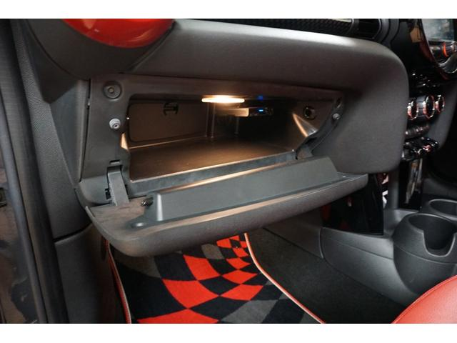 クーパーS クーパーS(4名) サンダーグレーメタリック 17AW 赤革シートカバー スマートキー アイドリングストップ 純正HDDナビ ETC(43枚目)