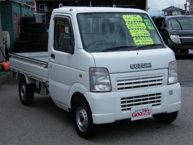 スズキ キャリイトラック 4WD 5速マニュアル エアコン パワステ 三方開
