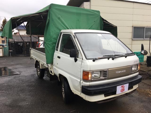 トヨタ タウンエーストラック 4WD 5速マニュアル ワンオーナー パワステ 三点開き幌