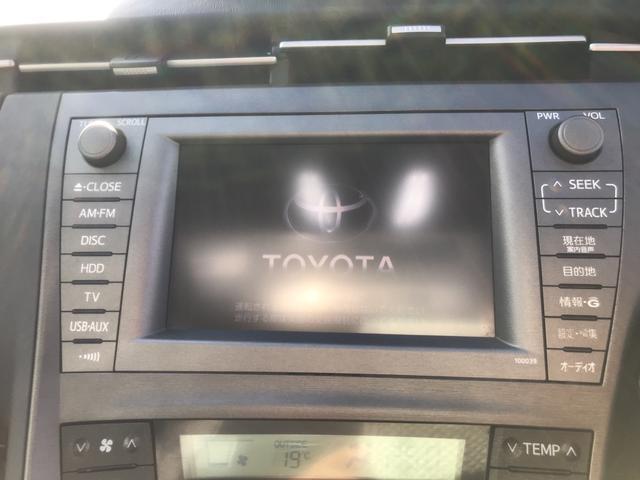 トヨタ プリウス S サンルーフ HDDナビ バックカメラ