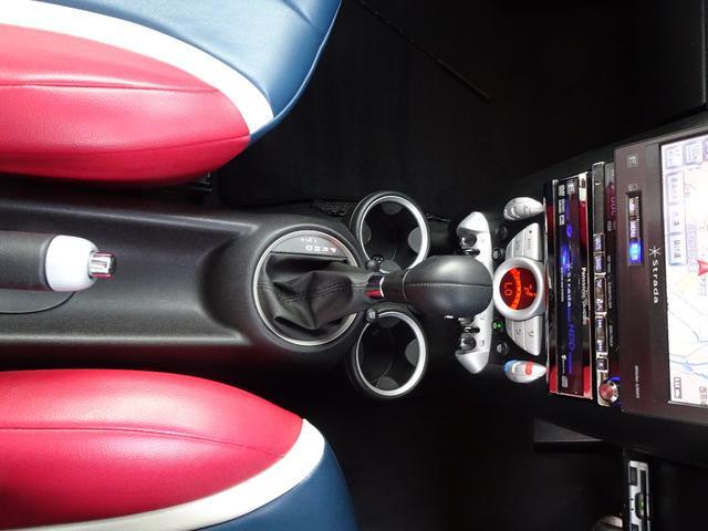 クーパーS ターボ ユニオンジャックシート ユニオンジャックミラーカバー センターマフラー ストラーダHDDナビ ETC車載器(11枚目)