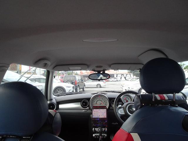 クーパーS ターボ ユニオンジャックシート ユニオンジャックミラーカバー センターマフラー ストラーダHDDナビ ETC車載器(12枚目)