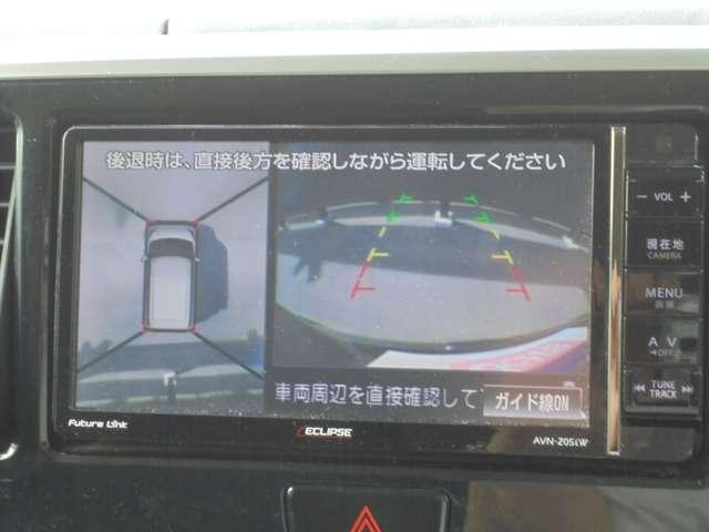 アラウンドビューモニターでバック時安全確認OK