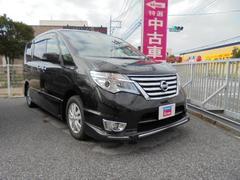 沖縄の中古車 日産 セレナ 車両価格 194万円 リ済別 平成28年 1.1万K ブラック