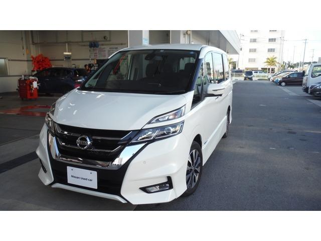 沖縄の中古車 日産 セレナ 車両価格 247.6万円 リ済別 2017(平成29)年 3.8万km パールホワイト