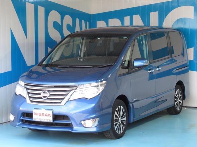 日産 ハイウェイスター Vセレ+セーフティII SHV エマージェンシーブレーキ・踏み間違い防止アシスト・アラウンドビューモニター・クルーズコントロール・LEDライト・ETC・DVD再生・音楽録音・Bluetooth・インテリキー・車検整備・1オーナー車