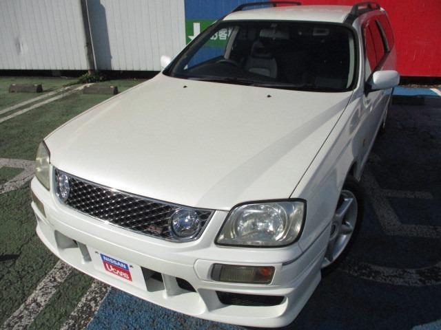 日産 ステージア 25t RS FOUR S 4WD 純正エアロ キセノンライト 社外マフラー 社外ステアリング ルーフレール キーレスリモコン