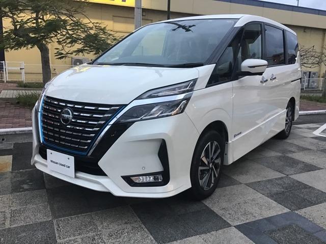 沖縄の中古車 日産 セレナ 車両価格 378万円 リ済別 2019年 0.2万km パールホワイト