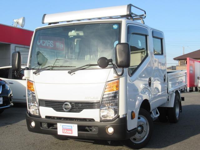 日産 アトラストラック  3.0 ダブルキャブ スーパーロー ディーゼルターボ 1.75t 木製荷台 リヤヒーター 後席PW