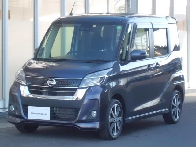 日産 660 ハイウェイスター Gターボ 純正ナビ・TV/エマブレ/アラウンドビュー