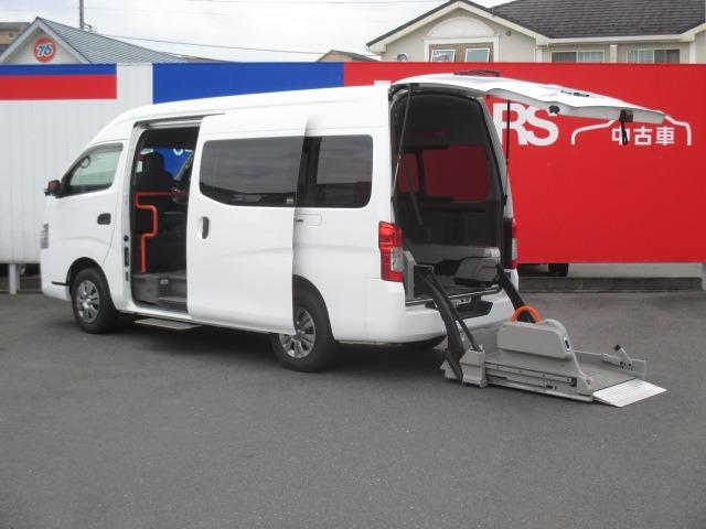 日産 NV350キャラバンバン  2.5 チェアキャブ 車いす2名仕様 ディーゼルターボ 4WD エマージェンシーブレーキ 横滑り防止機能 アラウンドビューモニター リアクーラー&ヒーター オートステップ