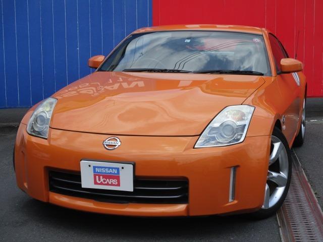 日産 3.5 6速マニュアル車 AW HIDライト ナビ CD DVDナビ キーレスエントリー ABS