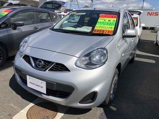 日産 マーチ 1.2 X FOUR Vセレクション 4WD 1年間走行距離無制限保証/4WD
