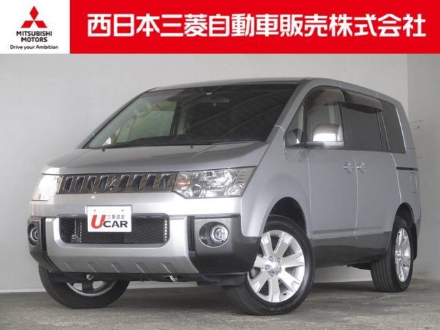三菱 シャモニー 4WD 距離無制限保証1年付 HDDナビ付