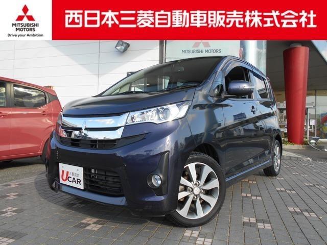 三菱 eKカスタム T バックカメラ・TV・DVD再生・ナビ搭載車