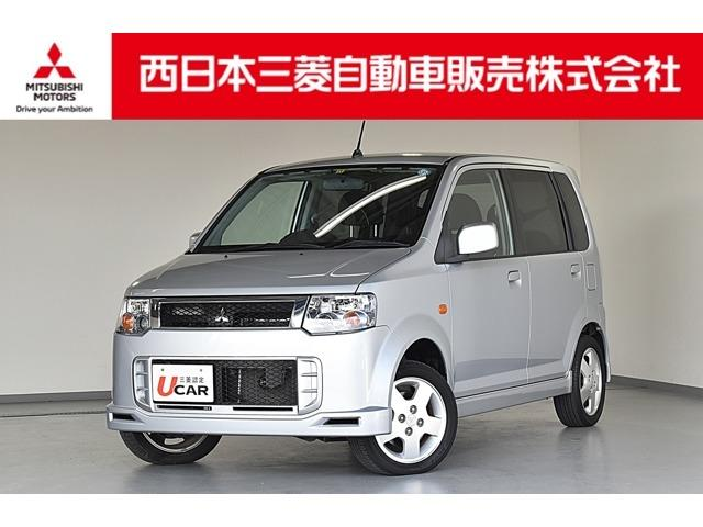 三菱 eKスポーツ R ターボ 2WD ・7インチHDDナビゲーション+フルセグTV・ETC・HIDヘッドライト・修復歴あり