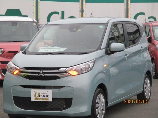 三菱 eKワゴン M 試乗車アップ 禁煙車 CDプレーヤー キーレス 前席シートヒーター 電動格納ドアミラー フロアマット