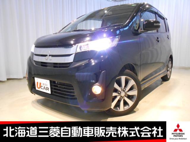 三菱 eKカスタム T ターボ ナビ ブラック内装 ベンチシート シートヒーター