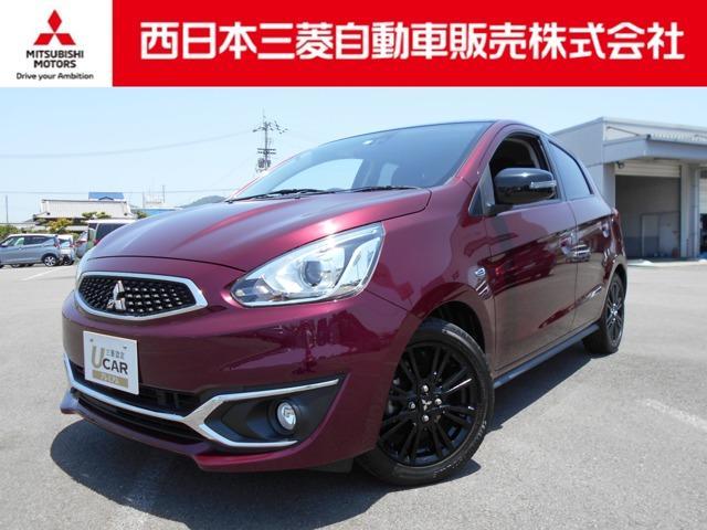 三菱 ミラージュ ブラックエディション フルセグTV・DVDビデオ再生・ナビ搭載車