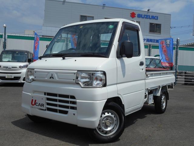 三菱 ミニキャブトラック VX-SE ハイ、ロー切替付きパートタイム4WD ワンオーナー L型バイザー フロアマット AM/FMラジオ