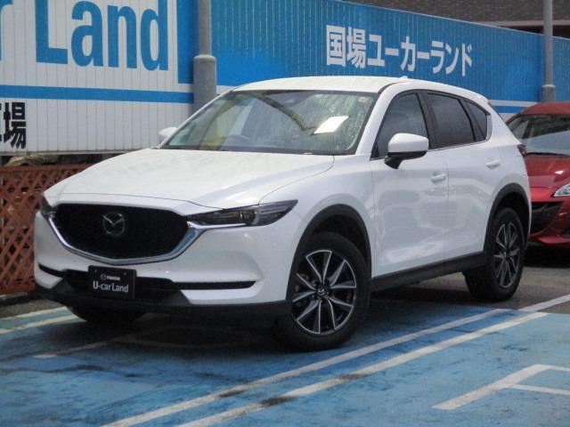 沖縄の中古車 マツダ CX-5 車両価格 283.8万円 リ済別 平成30年 0.7万km スノーフレイクホワイトパール