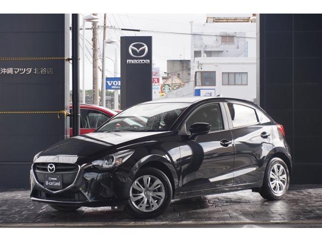 沖縄の中古車 マツダ デミオ 車両価格 139.8万円 リ済別 平成30年 0.7万km ジェットブラックマイカ