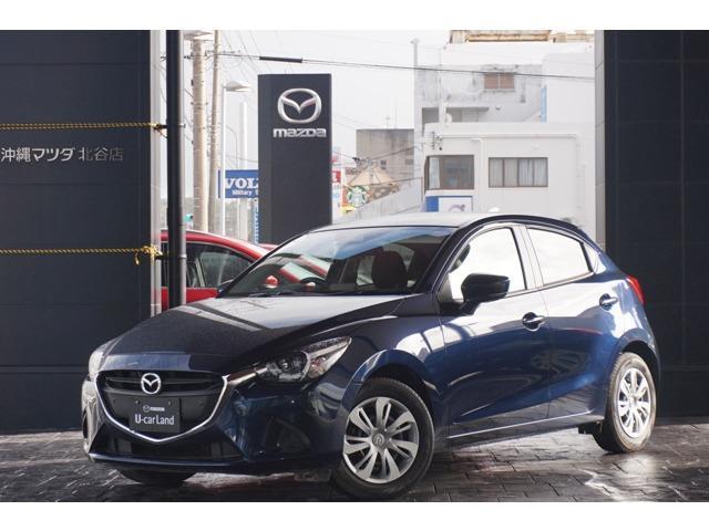 沖縄の中古車 マツダ デミオ 車両価格 138.8万円 リ済別 平成30年 0.7万km ディープクリスタルブルーマイカ