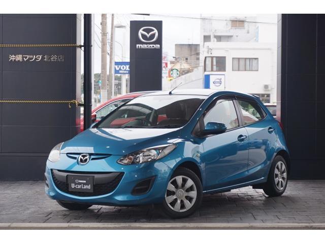 沖縄の中古車 マツダ デミオ 車両価格 69.8万円 リ済別 平成24年 3.1万km アクアティックブルーマイカ