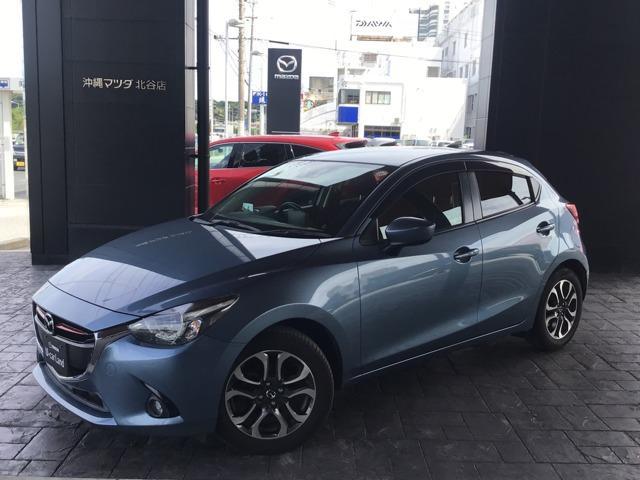 沖縄の中古車 マツダ デミオ 車両価格 134.8万円 リ済別 2017(平成29)年 3.0万km ブルーリフレックスマイカ