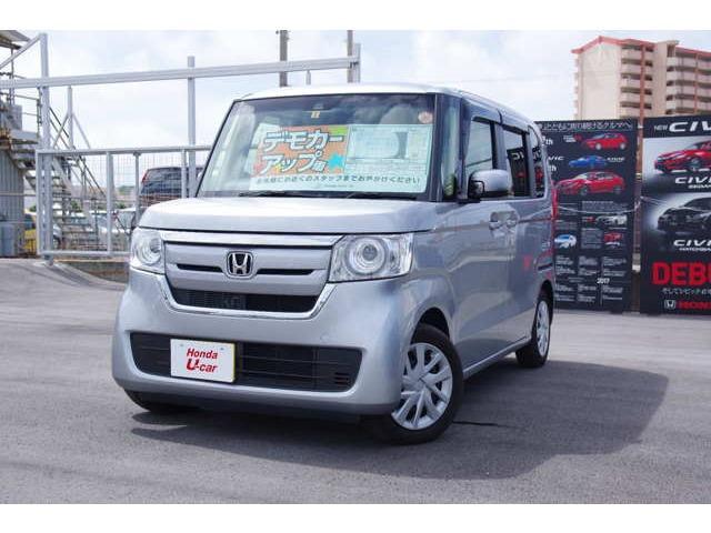 沖縄の中古車 ホンダ N BOX 車両価格 164.8万円 リ済別 平成29年 0.6万km シルバーメタリック