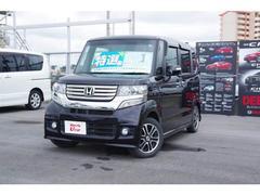 沖縄の中古車 ホンダ N BOXカスタム 車両価格 123.8万円 リ済別 平成25年 3.5万K ブラックパール