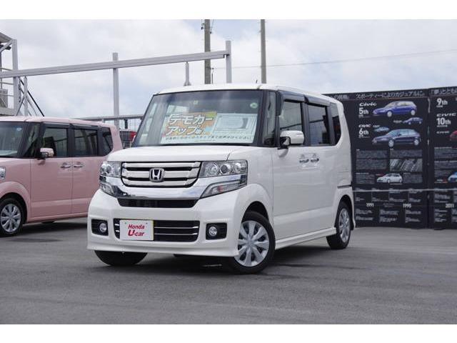 沖縄の中古車 ホンダ N-BOXカスタム 車両価格 139.8万円 リ済別 平成28年 1.1万km ホワイトパール