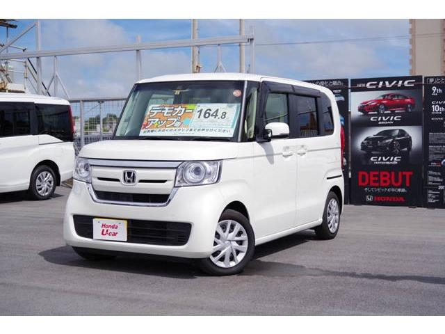 沖縄の中古車 ホンダ N BOX 車両価格 164.8万円 リ済別 平成29年 1.0万km ホワイトパール