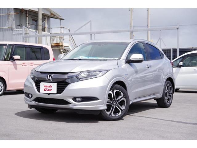 沖縄の中古車 ホンダ ヴェゼル 車両価格 212.8万円 リ済別 平成26年 3.5万km シルバーメタリック