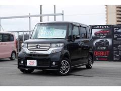 沖縄の中古車 ホンダ N BOXカスタム 車両価格 102.8万円 リ済別 平成25年 6.3万K ブラックパール