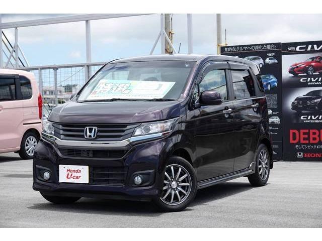 沖縄の中古車 ホンダ N-WGNカスタム 車両価格 132.8万円 リ済別 平成28年 0.8万km パープルパール
