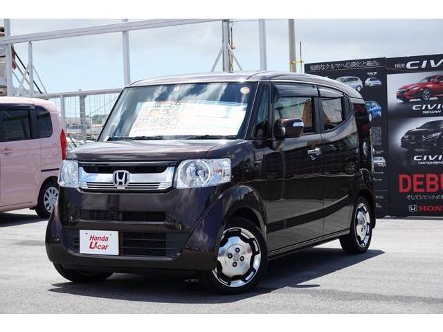 沖縄の中古車 ホンダ N-BOXスラッシュ 車両価格 179.8万円 リ済別 平成29年 0.4万km ブラウンパール