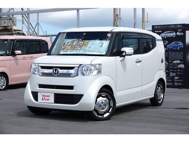沖縄の中古車 ホンダ N-BOXスラッシュ 車両価格 169.8万円 リ済別 平成29年 0.5万km ホワイトパール