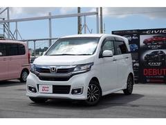 沖縄の中古車 ホンダ N−WGNカスタム 車両価格 136.8万円 リ済別 平成29年 0.4万K ホワイトパール