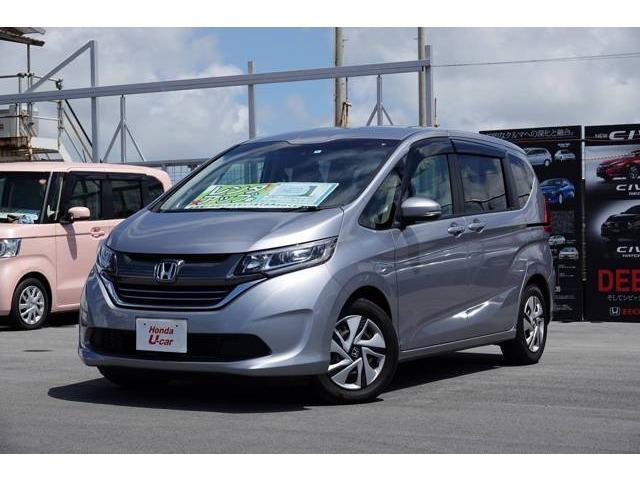 沖縄の中古車 ホンダ フリードハイブリッド 車両価格 242.8万円 リ済別 平成29年 1.2万km シルバーメタリック