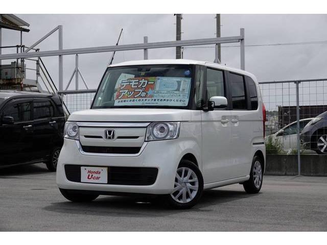 沖縄の中古車 ホンダ N-BOX 車両価格 139.8万円 リ済別 平成30年 0.4万km ホワイトパール