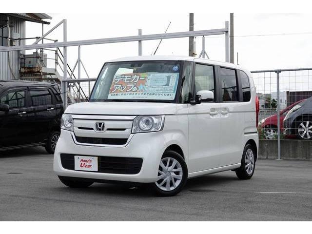 沖縄の中古車 ホンダ N-BOX 車両価格 139.8万円 リ済別 平成30年 0.3万km ホワイトパール