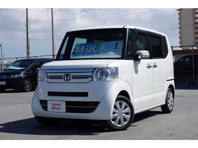 沖縄の中古車 ホンダ N-BOX 車両価格 129.8万円 リ済別 平成28年 2.1万km ホワイトパール