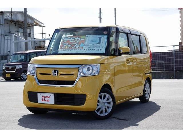 沖縄の中古車 ホンダ N-BOX 車両価格 159.8万円 リ済別 平成29年 0.9万km イエローパール