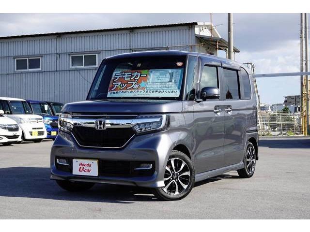 沖縄の中古車 ホンダ N BOXカスタム 車両価格 179.8万円 リ済別 平成29年 0.6万km グレーメタリック